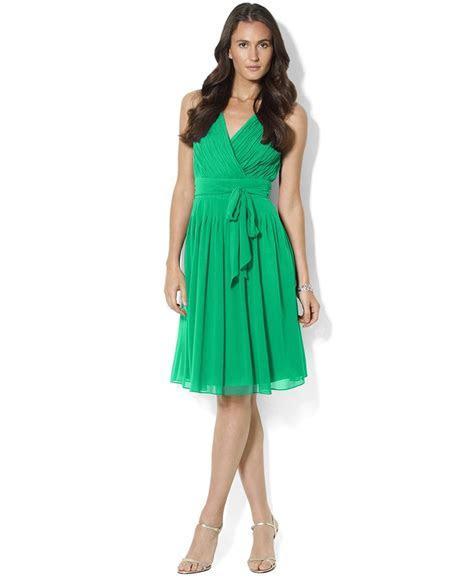 Lauren by Ralph Lauren Dress, Sleeveless Chiffon Pleated A