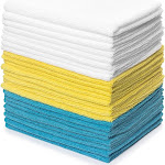 Zeppoli Reusable Microfiber Cleaning Cloth Set - 12 x 16 Inch - 24 Pack
