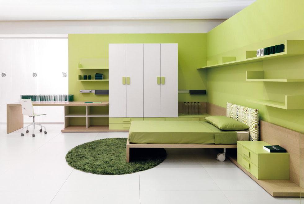 Bedroom Decorating Dark Green Walls Woodwork Samples