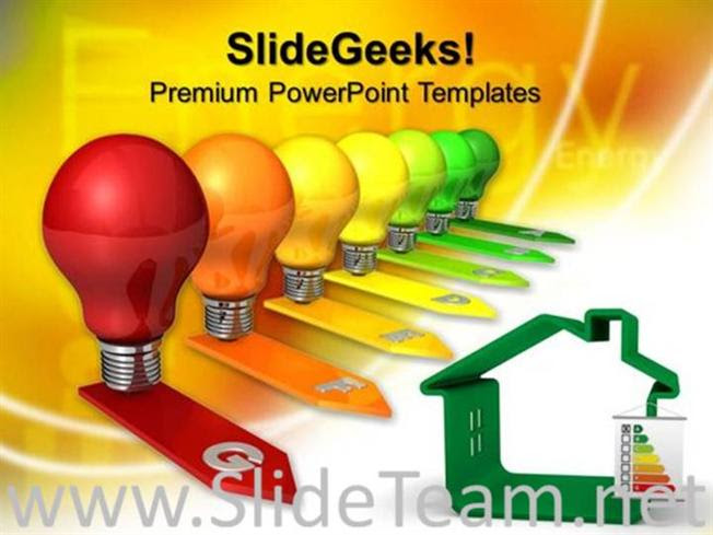 Energy Efficiency Concept Business Powerpoint Theme Powerpoint Template