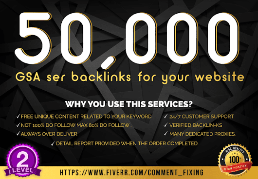 I will rank your website with my 50k seo links strategy