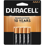 Duracell Alkaline Coppertop Batteries, AAA - 4 pack
