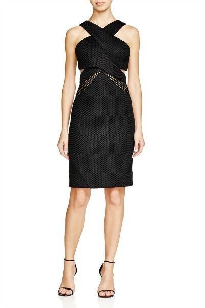 Kendall + Kylie Mesh Front Dress