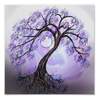 Lavendar Tree of Life Poster print