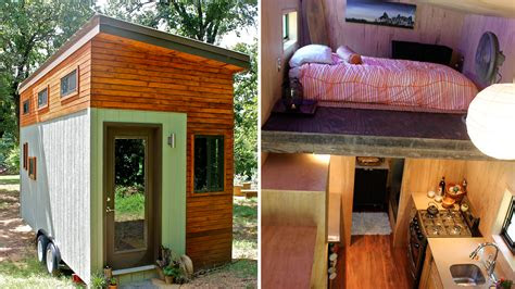 college student builds tiny home  graduate debt