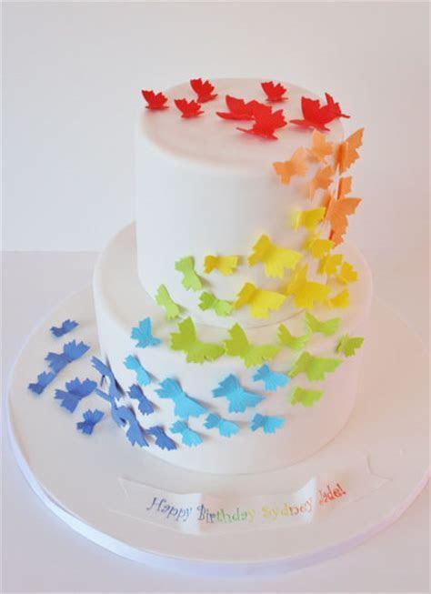 Birthday Cakes NJ   Rainbow Butterfly Custom Cakes