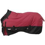 Waterproof Poly Turnout Blanket w/ Adjustable Snuggit Neck Heavy 72 Inch, Burgundy