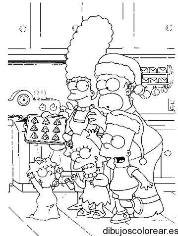 Dibujo De Los Simpsons En Navidad