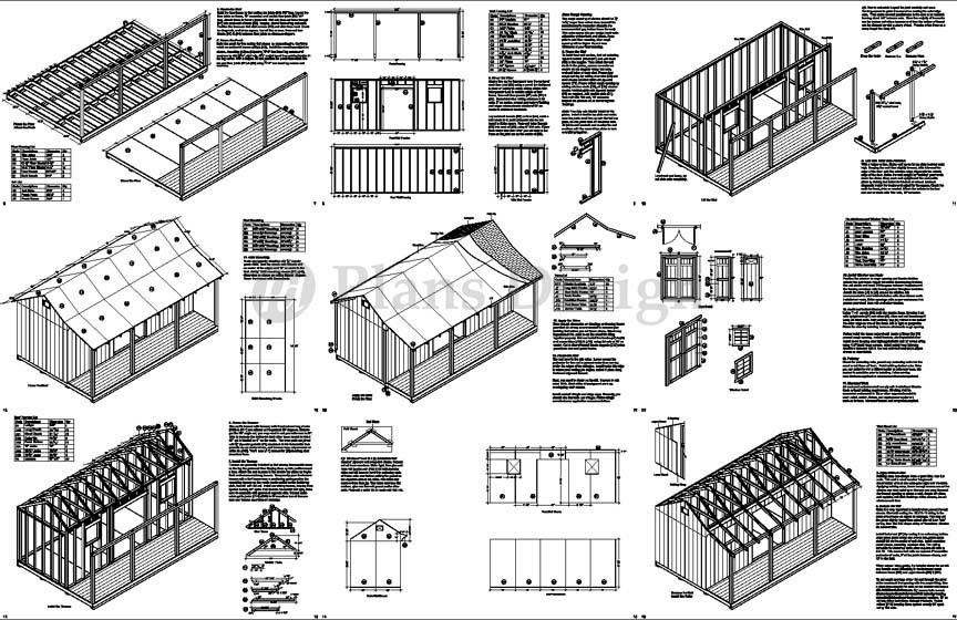 Shed plans 10x12 gable shed step-by-step construct101.
