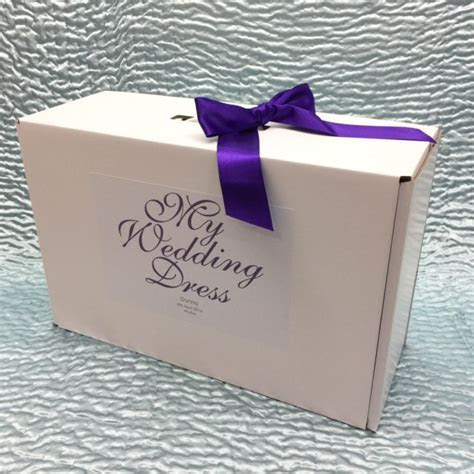 Belle Small Personalised Wedding Dress Storage Box with Ribbon