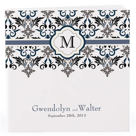 Notepad Favour with Personalised Lavish Monogram Cover