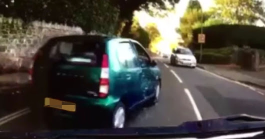 HGV driver asks 'who's at fault?' after crashing into small car which 'undertook him'