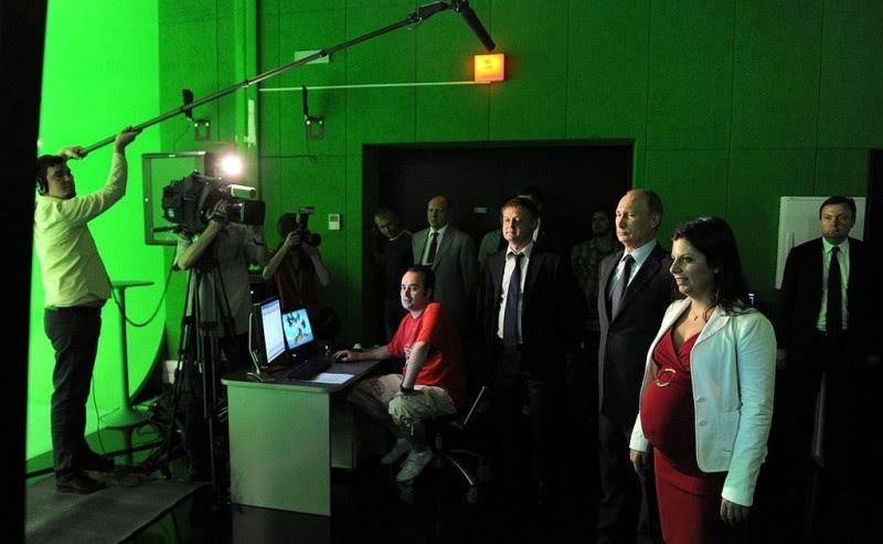 <p>Visita de Vladimir Putin a las nueva sede central del canal RT.</p>