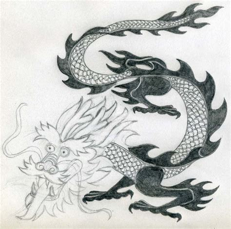 dragon drawing simple  perfect