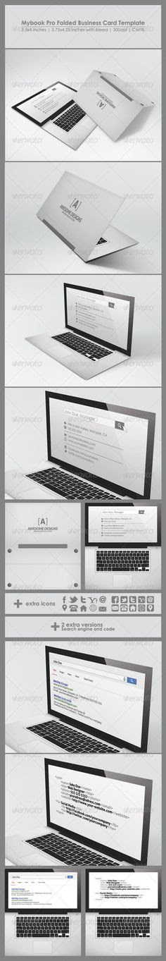 MaDe - Material Design Business Card Template | Creative, Business ...