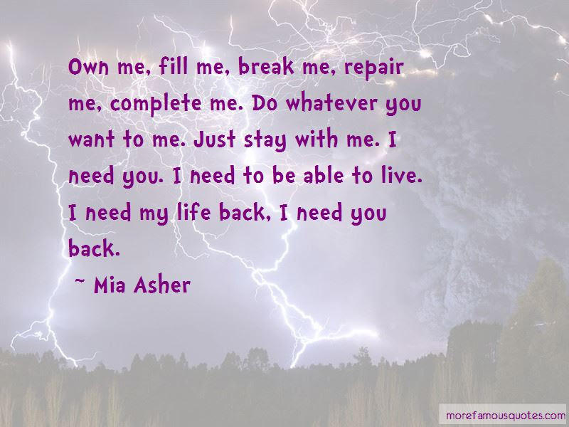 I Need You Back Quotes Top 38 Quotes About I Need You Back From