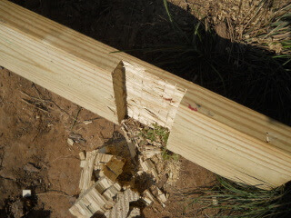 Porch Joist Notched to Go Around Porch Post