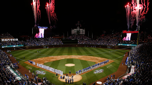 Cubs raise banner for home opener