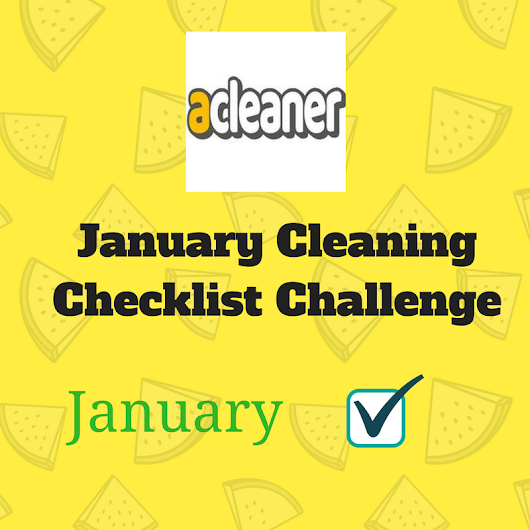 January Cleaning Checklist Challenge
