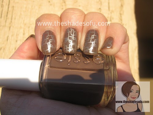 Fauxnad Nail Stamp Art Essie In Mink Muffs And China