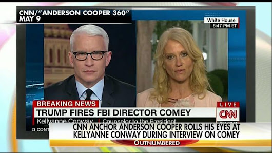 WATCH: CNN's Cooper Rolls Eyes at Conway During Interview on Comey