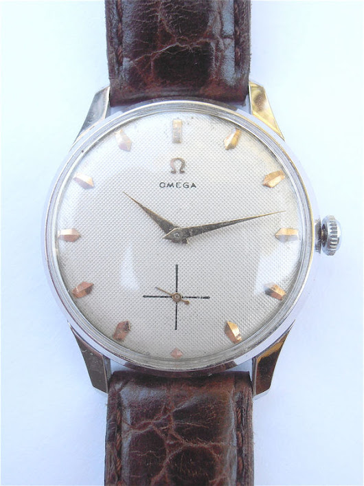 Vintage Omega Mens Dress Watch Genuine Omega Watch European Model Omega Watch Omega Chrome Plated Watch Vintage Omega Honeycomb Dial Face