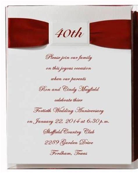 3 40th anniversary invitation wording ideas 40th