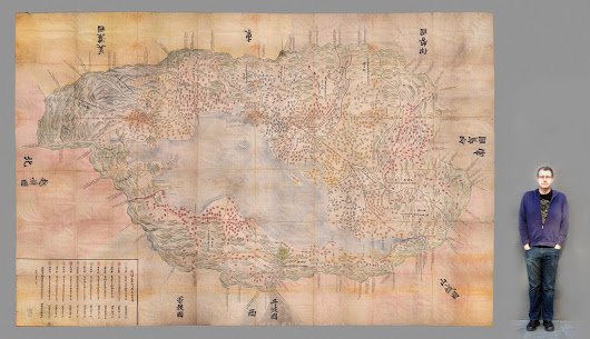 Adventures in oversized imaging: digitizing the Ōmi Kuni-ezu 近江國絵圖 Japanese Tax Map from 1837 | Stanford University Libraries