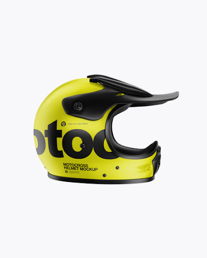 Download Free Motocross Helmet Mockup - Side View (PSD)