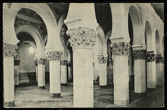 Sinagoga de Santa María la Blanca a comienzos del siglo XX. Foto Lacoste