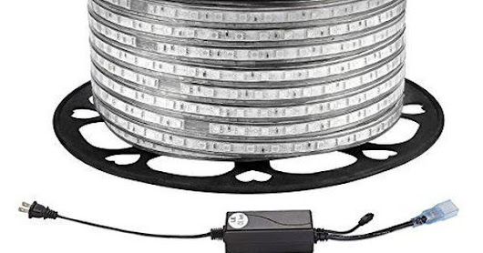 LE 164ft/50m Flexible LED Strip Lights, RGB, 3000 Units SMD 5050 LEDs, 720lm/m, 110-120 V AC, Color Changing, Waterproof IP65, Accessories Included, LED Tape, Rope Lights, Christmas Holiday Decoration