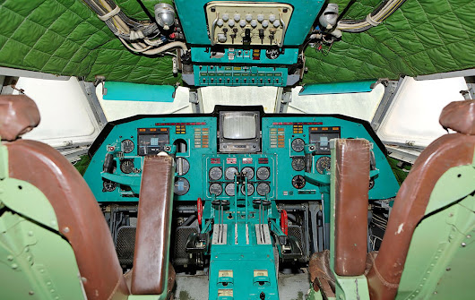 Interiors of the abandoned Lun ekranoplan