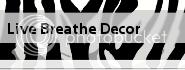 live breathe decor button