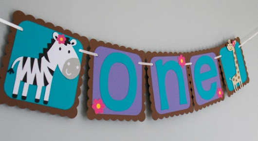 I am one girl Safari Banner/ Zebra Giraffe Birthday Banner/Safari Birthday Banner/ Jungle Birthday Banner/Baby Girl one safari birthday