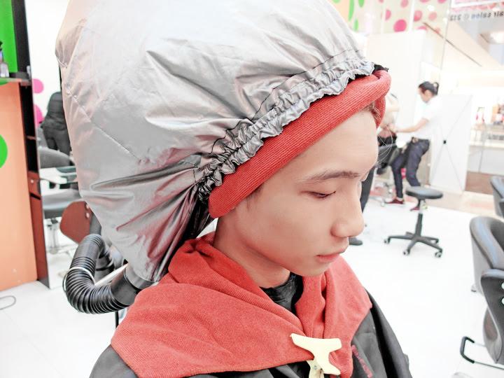 typicalben doing hair treatment