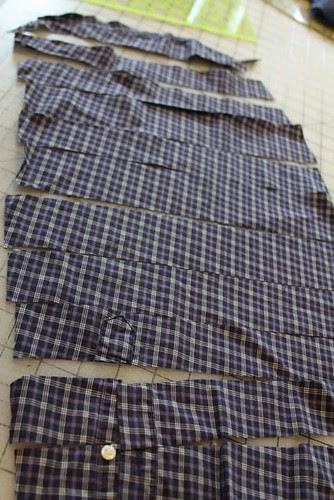 how to quilt with clothing, how to quilt with a shirt, how to recycle a shirt, mamaka mills, alix joyal, recycled quilt, memory quilt, custom shirt quilt