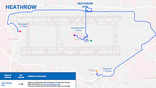 London Heathrow Airport Uber Waiting Area *Updated*