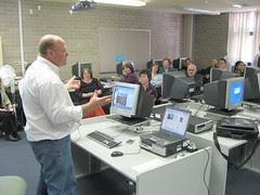 Owen presenting about Adobe Breeze