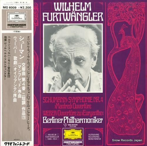 FURTWANGLER, WILHELM schumann; symphonie nr.4 manfred ouverture