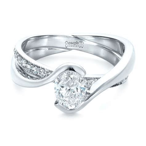 Custom Interlocking Engagement Ring #1437   Seattle