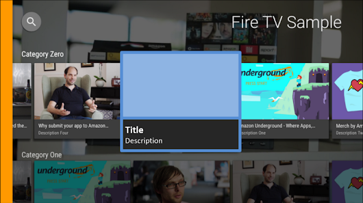 Developing for the Living Room: How to Build an Android App for Fire TV (Part 4) – Amazon Appstore