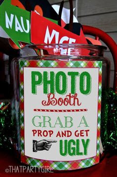 Ugly Sweater Party Photo Booth Sign - DIY INSTANT DOWNLOAD