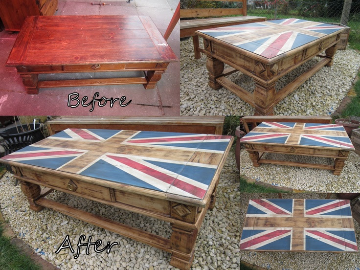 Before & After of a coffee table cupboard! Come and join me on my FB page www.facebook.com/...