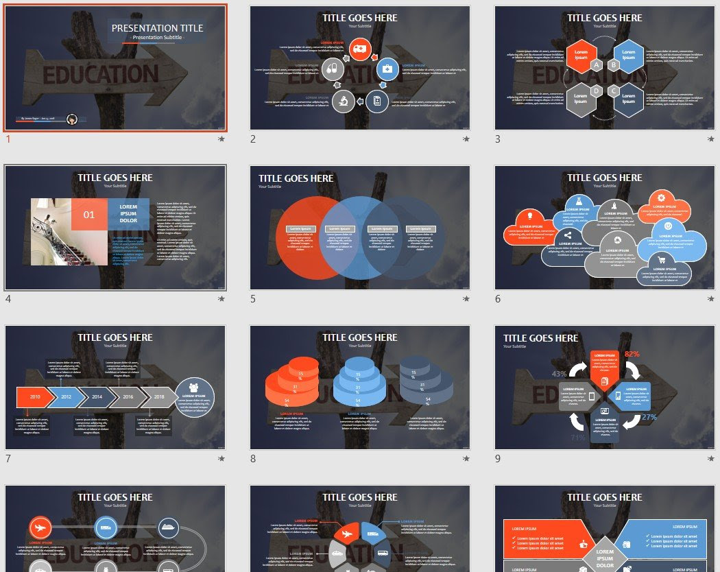 Education Powerpoint Template 73572