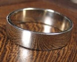 The Big Men's Ring, 14K White or Yellow Gold Hand Forged Men's Band