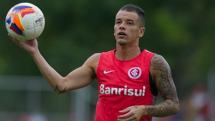 D'Alessandro em treino do Inter. Foto: Divulgacao
