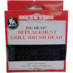 Bull Big Head Grill Brush Replacement Head for Models 24103 and 24218, Black by VM Express