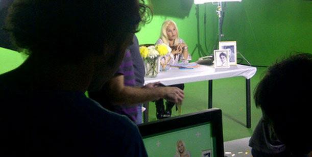 El back de Susana Giménez filmando una publicidad para la provincia de Córdoba