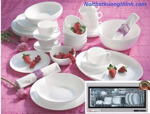 Sử dụng máy sấy bát Napoliz NA 820D cho bát đĩa luôn khô và sạch