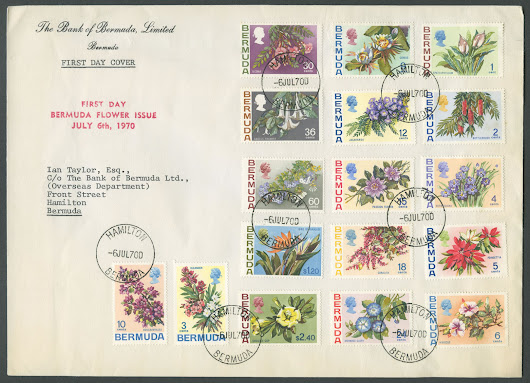 1970 Bermuda Flower Issue Definitives - Bermuda Stamps